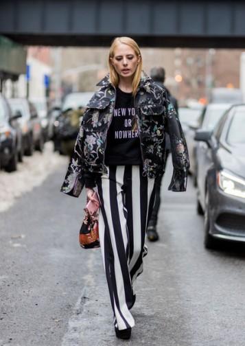 uemdi6-l-610x610-pants-nyfw+2017-fashion+week+2017-fashion+week-streetstyle-stripes-striped+pants-wide+leg+pants-bag-bucket+bag-sweater-sweatshirt-black+sweater-jacket-printed+jacket-flo