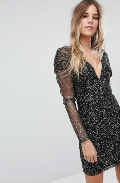 boohoo mesh neck dress - 30 copy
