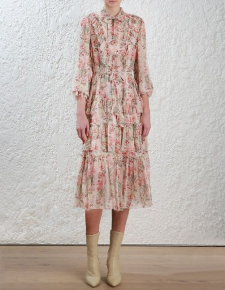 2.2610DFOL.PEFL.Peach_Floral-Folly-Neck-Tie-Dress-front