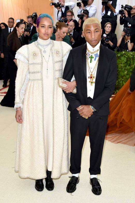 Helen Lasichanhh and Pharrell Williams