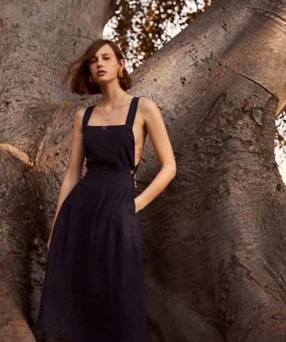Mango linen dress copy