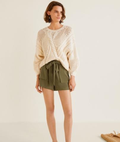 Flowy shorts Mango copy